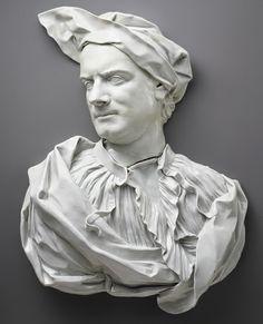 Relief portrait of Carlo Bertinazzi, ca. 1770,  Italian; Perhaps Cozzi factory Hard-paste porcelain