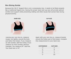 sizing chart for bra from Lululemon | Sizing Charts for Women's ...