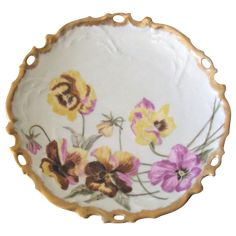 Antique Limoges Pansy Plate at 30% off during the Ruby Red 24 Hour, 30% off Tag Sale Event. Beginning Wed. Nov 4th on Ruby Lane and at whimsicalvintage.rubylane.com