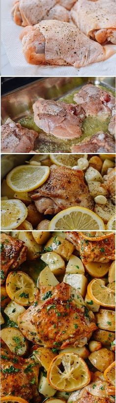 The very #BEST #Roasted #Lemon #Chicken #Thighs with #Potatoes recipe by the Woks of Life, SO EASY and SO TASTY!