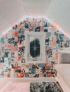 ➪ 𝚒𝚏 𝚢𝚘𝚞 𝚛𝚎-𝚙𝚘𝚜𝚝.𝚐𝚒𝚟𝚎 𝚌𝚛𝚎𝚍𝚒𝚝 // 𝚌𝚛𝚎𝚍𝚒𝚝- cami dahms Cute Bedroom Decor, Teen Room Decor, Room Ideas Bedroom, Bedroom Inspo, Photowall Ideas, Cozy Room, Aesthetic Bedroom, Dream Rooms, Dream Bedroom