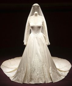 Fit for a Duchess: Kate Middleton's stunning wedding gown is going on display at the weekend, alongside other items from the big day #katemiddleton, #catherinedutchess
