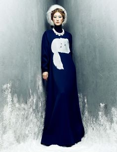 "Lee Hyun Yi in ""Frozen Moments"" by Choi Yong Bin forHarper's Bazaar Korea,January 2014"