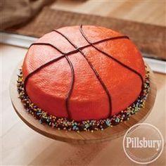 diy basketball cake   Found on pillsburybaking.com