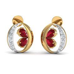 c54ff66cd20 Diamond Earrings Design 0.15 Ct Real Certified Solid Gold Ruby Weekend