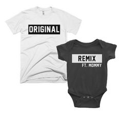 *Original/ Remix | Daddy   Baby Set Matching family shirts