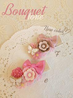 ヘアクリップ【ベビーサイズ】Bouquet tone*ブーケ・トーン*受注製作*ヘアピン
