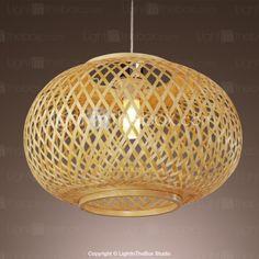 Bamboo Pendant Light - USD $ 89.99