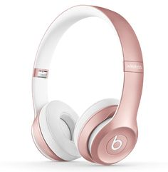 Beats by Dre On-Ear Wireless Headphones - Gold.: With up to 40 hours of battery life, Beats Wireless are… Cute Headphones, Bluetooth Headphones, Gold Beats Headphones, Sports Headphones, Wireless Headset, Beats By Dre, Beats Solo 3 Wireless, Musik Player, Accessoires Iphone