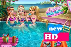 ♥ Disney Frozen Games Frozen Elsa And Anna Rapunzel Party Game For Girls ♥