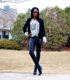 New outfit featuring Nygårg slim stylemydreams.wordpress.com #ootd #fashion #fauxleather #leatherleggings #jeggings