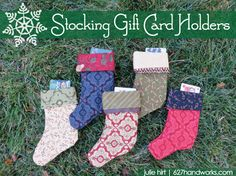 Stocking Gift Card Holders