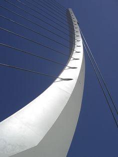 Katehaki Pedestrian Bridge, Mesogeion Avenue, Athens, Greece by Santiago Calatrava