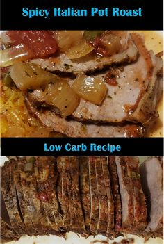 Great as a Sunday dinner that preps ahead for the week too! Italian Pot Roast, Low Carb Recipes, Healthy Recipes, Lchf Diet, Sunday Roast, Stuffed Hot Peppers, Health And Nutrition, Slow Cooker, Spicy