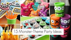 monster party decorations | 15 Adorable Monster-Theme Party Ideas!
