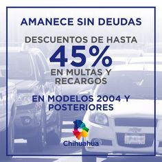 Amanece sin deudas, aprovechas los descuentos que se estarán efectuando.  #GobiernoTransversal #GobiernodeChihuahua #Chihuahuamx #Cuu