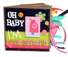Oh Baby Pregnancy Scrapbook - Paper Bag Album.