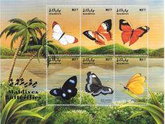 Maldives - Butterflies, 1999 - Sc 2370 Sheetlet of 6 MNH
