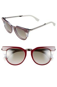 bed043e5e6 Fendi 52mm Retro Sunglasses available at  Nordstrom Heart Sunglasses