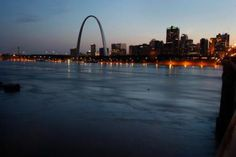 The Jefferson-Mississippi-Missouri River System: The Gateway Arch is seen as the flooding Mississippi River runs in front of it June 25, 2008 in St. Louis, Missouri.