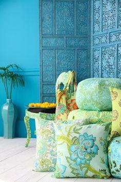 Great blue, great fabrics