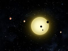 This artist's rendering, provided by NASA, shows Kepler-11, a sun-like star around which six planets orbit. A planet-hunting telescope is finding whole new worlds of possibilities in the search for alien life, including more than 50 potential planets that initially appear to be in habitable zones. (NASA via Associated Press)