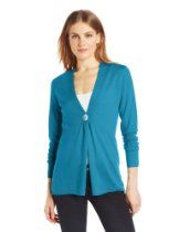 Colour Works Womens 100percent Merino Wool One Button Cardigan Sweater
