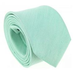ede8b0b39be81 Cravate vert d'eau en soie et lin nattés - Parme #cravate #vert