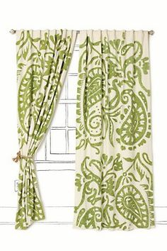 Lakkari Curtain - Anthropologie, but something similar to this in the living room
