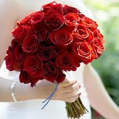 I was thinking of more of a dark Red rose bouquet but this is actually really pretty too..