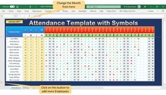 Download the practice file for Stylish Attendance Tracker with Symbols