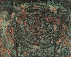 Mikuláš Medek, My Head is Going Around, 1962, oil on canvas | Museum Kampa Oil On Canvas, Modern Art, Oil Paintings, Contemporary Art
