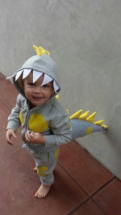 Dino Hoodie, Dino Tail and Pant. Toddler Dinosaur Costume, Dinosaur Halloween Costume, Dino Costume, Dinosaur Tails, Halloween Costumes To Make, Halloween Sewing, Halloween 2017, Diy Baby Costumes, Toddler Costumes