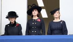 Kate Middleton Photos - Princess Alexandra, The Honourable Lady Ogilvy, Catherine, Duchess of Cambridge and Sophie, Countess of Wessex during the annual Remembrance Sunday memorial on November 12, 2017 in London, England.  The Prince of Wales, senior politicians, including the British Prime Minister and representatives from the armed forces pay tribute to those who have suffered or died at war. - The Royal Family Lay Wreaths At The Cenotaph On Remembrance Sunday