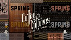 Coffee Cultures logo and branding by CDA
