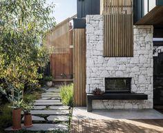 Radiante 1200 2V  Indoor/Outdoor fireplace Landscape Design Melbourne, Landscape Designs, Fresco, Bali, Evergreen Garden, Outdoor Living, Outdoor Decor, Outdoor Spaces, Indoor Outdoor