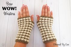 FREE *For a Limited Time Only* ~ Bow WOW! Wristers Crochet Pattern - Offer ends at midnight on July 27th, 2014.