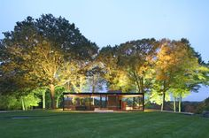 Perfect photo of the Glass House by Philip Johnson