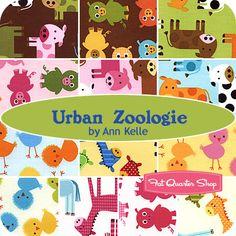 Urban Zoologie Yardage Ann Kelle for Robert Kaufman Fabrics - Fat Quarter Shop