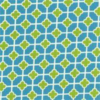 English Garden Turquoise Contemporary Indoor/Outdoor Fabric