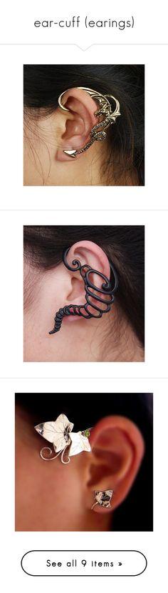 """""""ear-cuff (earings)"""" by xxxsilverangelxxx ❤ liked on Polyvore featuring jewelry, earrings, silver tone earrings, artificial earrings, punk rock earrings, wrap earrings, earring ear cuff, fake jewelry, ear cuff jewelry and artificial jewellery"""