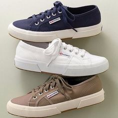 live in chino > superga® classic sneakers at J. Ankle Sneakers, Superga Sneakers, Slip On Sneakers, Leather Sneakers, Ladies Sneakers, Sneakers Design, Ladies Footwear, Ankle Boots, Superga Outfit