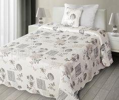 Krémové oboustranné vintage plédy na postel