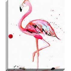 Pink Flamingo Canvas Print