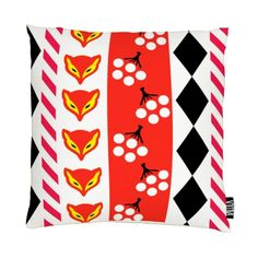 Collection of old renowned patterns from Finnish candy wrappings as print by Vallila Interior, Finland