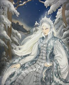 Queen of Frost and Darkness 2, by Janey-Jane. One of my characters in the game Innocents grew up with Russian fairy tales, and this reminded me of that.