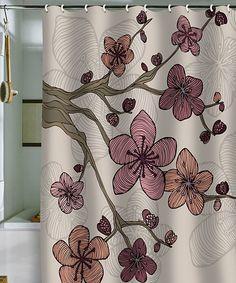 Look at this #zulilyfind! Pink Blossom Shower Curtain by DENY Designs #zulilyfinds