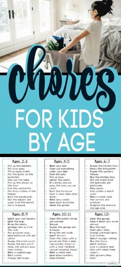 PERFECT list of Age Appropriate Chores for kids developed by a child therapist & teacher. These Age appropriate chores for young children & older children (tweens & teens, too) is great because it gives the age for the chores for kids. Chores teach k Chores For Kids By Age, Age Appropriate Chores For Kids, Children Chores, Kid Chores, Toddler Chores, List Of Chores, Chore Charts For Older Kids, Kids Chore List, Toddler Boys