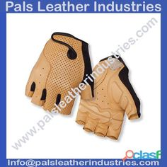 Cycling Gloves Half Finger Tan Leather...We are manufacturing, supplying and wholesaling a qualitative range of Cycling Gloves. Discover our incredible range of cycling gloves designed for a variety of climates and conditions. From full finger to half finger gloves, we use durable materials with strategically placed padding for a fit that feels natural and conforms to your hands for greater comfort and more control.