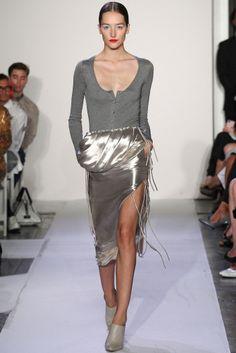 Altuzarra Spring 2014 #silver #skirt